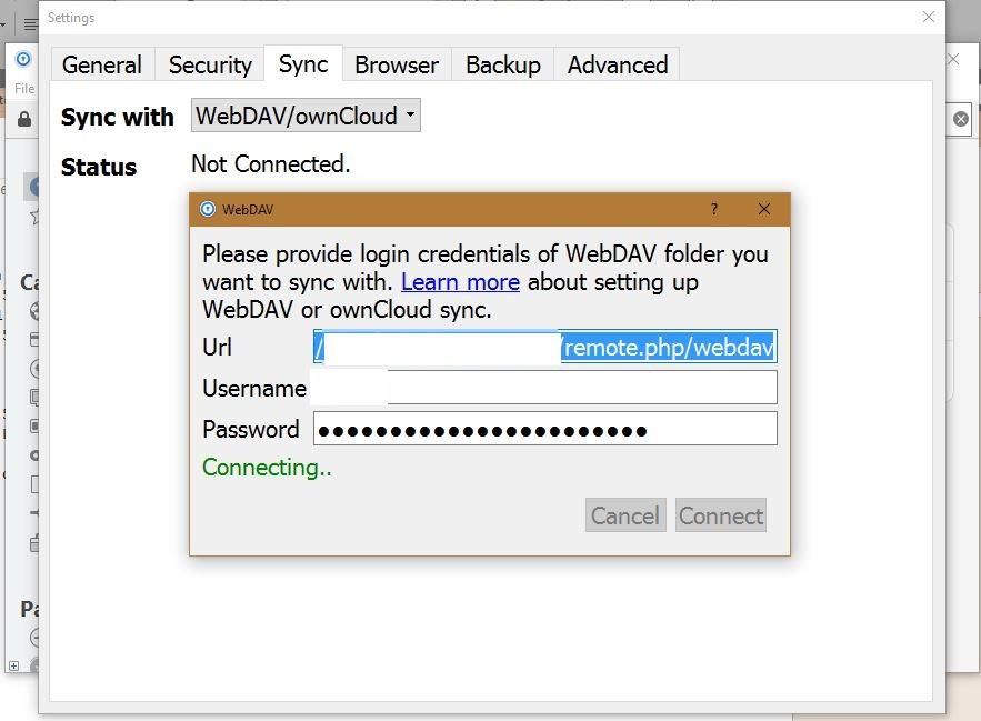 Webdav Setup Not Connecting - Windows PC - Enpass Forum